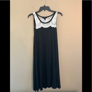 Karen Kane Black Dress With Cream Crocheted Lace